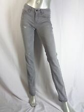 Costume National Gray Distressed Faded Effect Skinny Jeans Sz 26