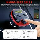Bluetooth 5.0 Handsfree Car Kit Wireless FM Transmitter Adapter 2 USB Charger