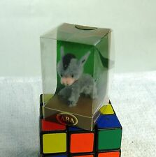 Cute Vintage ARA Austria Hand Made Wool Grey Donkey Burro Figurine Mint in Box