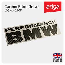 20CM Performance BMW CARBON FIBRE TEXTURE Vinyl Sticker Decal Bumper Window