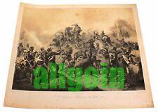 Stampa CARABINIERI A PASTRENGO (30 APRILE 1948) 66x58 cm Riproduzione Lito 1859