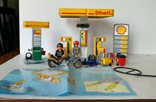 RARE!! Vintage 1998 Playmobil 3014 Racing Gas Station w/ Accessories