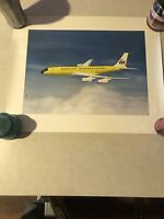 Braniff Airline Boeing 707 Poster By Robert L Smith