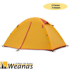 Weanas DELUXE 2 Person 3 Season Waterproof  Double Layer Tent Camping Ultralight