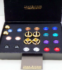 💥 NIB Vintage Joan Rivers Classic Collection Interchangeable Pierced Earrings