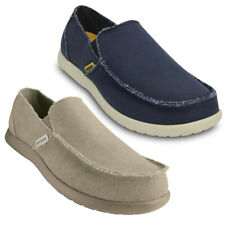 Crocs Mens Santa Cruz Lightweight Canvas Slip On Loafers