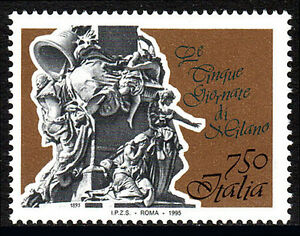 Italy 2021, MNH. Fifth Day of Milan War Memorial, by Giuseppe Grandi, cent. 1995