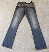 GUESS Denim Pants Blue Distressed Jeans Guess Los Angeles Bootcut 26 NWT