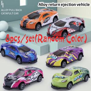8 Pack Stunt Toy Car Alloy Pull Back Car Jumping Stunt Cars Mini Car Models Kids