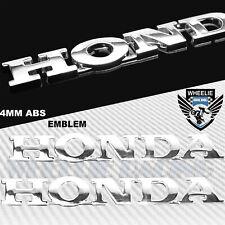 """X2 6"""" CHROMED SILVER 4MM VERY 3D EMBLEM DECAL FAIRING/FENDER STICKER HONDA LOGO"""