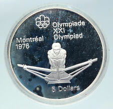 1974 CANADA Queen Elizabeth II Olympics Montreal OLD ROWING Silver 5 Coin i86436