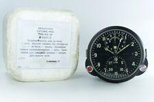 MINT! Russian Soviet USSR Military AirForce Aircraft Cockpit Clock AChS-1 + BOX!