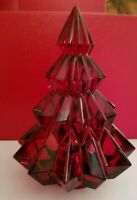 NEW NO BOX - BACCARAT Crystal ASPEN Fir Christmas Tree - RED