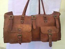 Vintage Look Leather Messenger Satchel Shoulder Briefcase for sports gym Bag