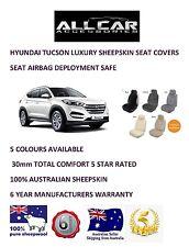 Sheepskin Car Seatcovers for Hyundai Tucson, Seat Airbag Safe, 5 Colours.30mm TC