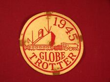 Vintage 1945 Globe Trotter Felt Patch Ship Train