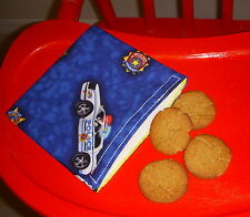 Reusable Snack Sandwich Food Storage Small Objects Bag Pouch Police Cars Cops