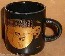 "MICKEY & MINNIE MOUSE Halloween MINI 2.5"" Tall Black & Gold Mug Cup FREE US Ship"