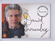 ALIAS SEASON 3 AUTO CARD DAVID CRONENBERG AS DR. EDWARD BREZZEL AUTOGRAPH A21