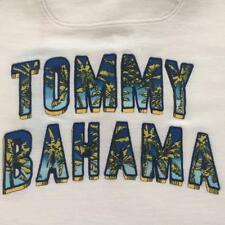 NWT TOMMY BAHAMA Mens White LOGO PALMS ISLAND ZONE Polo Shirt XXL $115