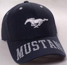 Hat Cap Licensed Ford Mustang Bill Lettering Blue CF