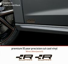 SEAT CUPRA R DECAL Badge Premium 10 Year Vinyl Decal Stickers x2 alt