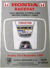 THRUXTON HONDA Raceday BARC 23A SEP 1990 sport automobilistico PROGRAMMA UFFICIALE