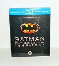 COFFRET DVD VIDEO BLU-RAY BATMAN L'ANTHOLOGIE DES FILMS 1989-1997
