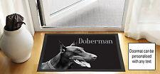 61cm x 40.6cm DOBERMAN CHIEN DESIGN NOIR brouillon DESSIN Porte d'entrée