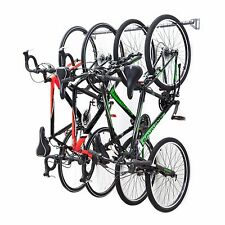 Monkey Bar Wall Bike Rack Mounts 4 Bikes Garage Vertical Storage Rack System
