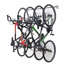 Monkey Bar Wall Bike Rack Mounts 4 Bikes Garage Vertical Storage Rack System