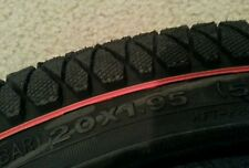 "1 NEW DURO X-PERFORMER BMX BICYCLE TIRE  20""X1.95"",BLACK-RED LINE PICTURED.CLEAN"
