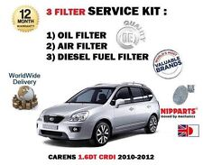 FOR KIA CARENS 1.6DT CRDI 2010-2012 OIL AIR DIESEL FUEL FILTER (3) SERVICE KIT