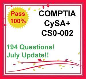 CompTIA CySA+ CS0-002 Exam dumps in PDF, PREPAWAY dumps