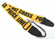 GUITAR STRAP ELECTRIC ACOUSTIC MANDOLIN POLICE LINE DESIGN By CLEARWATER