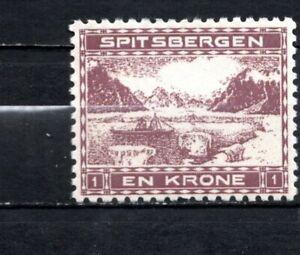 Norway Local Post 1909 Spitsbergen Stamp MH