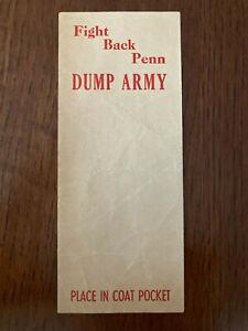University of Pennsylvania Penn Quakers Football Army Cadets 1948 Pocket Insert