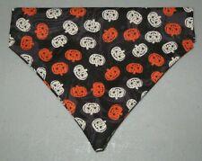 Halloween Pumpkin Faces Dog Bandana - 5 sizes XS-XL