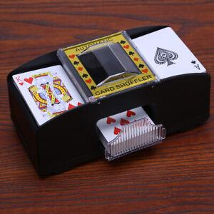 A1ST AUTOMATIC PLAYING CARDS SHUFFLER POKER CASINO ONE/TWO DECK CARD SHUFFLE SOR