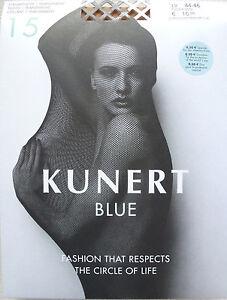 KUNERT Blue Fine Tights 15den Transparent Size 36-50 Restored Material