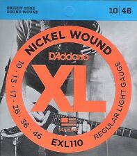 D'addario El. Guitar Regular Light 010-046 EXL-110, I7-