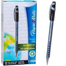 PaperMate Flexgrip Ultra Medium Pt 1.0m Pens, Black Ink, 9630131, Box of 12 Pens