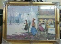 Dipinto a Mano Olio Su TelaPECORELLI  classico Con cornice in legno italiano