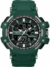 Timex TW5M22800 Men's Digital Sport Watch Green Resin Strap Bin N