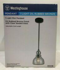 Westinghouse 6100800 One-Light Indoor Mini Pendant, Oil Rubbed Bronze Finish