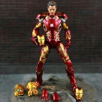 18cm Avengers Infinity War MK43 Iron-Man + Thanos Infinity Gauntlet PVC Toy
