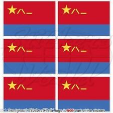 "CHINA Chinese AirForce PLAAF Flag Mobile Cell Phone Mini Decals Stickers 1.6"" x6"