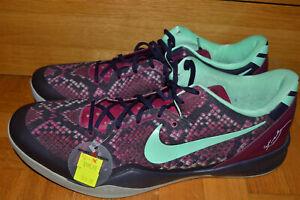 2013 NIKE KOBE VIII 8 SYSTEM PIT VIPER PURPLE DYNASTY GREEN GLOW shoe size US 18