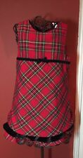 The Children's Place Girls Sz. 36 Mo. 3T Christmas Holiday Shimmery Plaid Dress