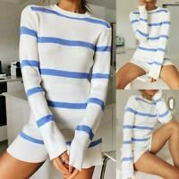 Womens Tops cosy Long Sleeve jumper Casual T-Shirt UK chunky Pullover Plus size